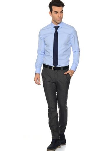 Cotton Bar Uzun Kollu Klasik Gömlek Mavi
